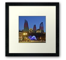 Flame Towers Framed Print