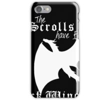 Black wings in the cold (white lettering)  iPhone Case/Skin