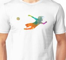 Woman soccer 14 in watercolor Unisex T-Shirt