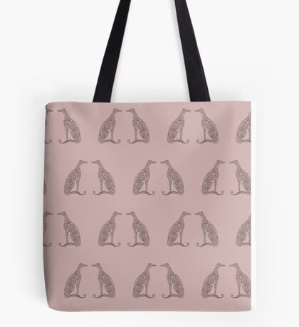 Double Greyhounds - Old Rose Tote Bag