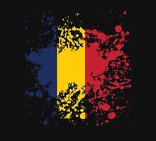 Chad Flag Ink Splatter Unisex T-Shirt
