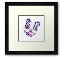It's Beans the Boston Terrier! Framed Print