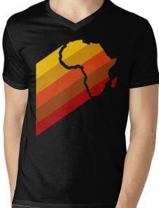 AFRICA RETRO Mens V-Neck T-Shirt