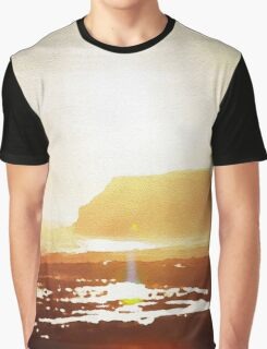 Coastal sunset in watercolor Graphic T-Shirt