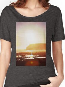 Coastal sunset in watercolor Women's Relaxed Fit T-Shirt