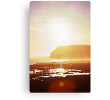 Coastal sunset in watercolor Canvas Print