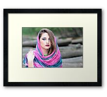 Young girl wearing hijab  Framed Print