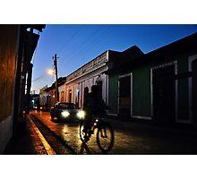 Night Rider in Trinidad de Cuba (Colour Version) Photographic Print