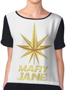 MARY JANE GOLD Chiffon Top
