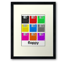 Nine floppies Framed Print