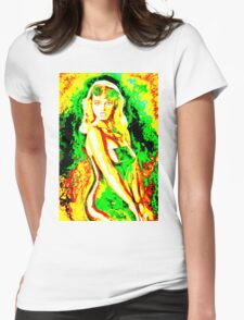 'Psychedelic' Womens Fitted T-Shirt