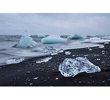 Jokulsarlon glacier lagoon, Iceland Photographic Print