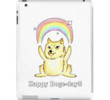 Happy Doge Day! iPad Case/Skin