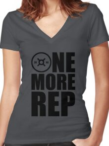 ONE MORE REP (KG) Women's Fitted V-Neck T-Shirt
