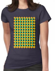 Retro print  Womens Fitted T-Shirt