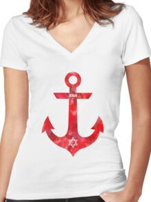 Christian Anchor Women's Fitted V-Neck T-Shirt