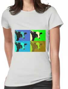 Warhol style cows Womens Fitted T-Shirt