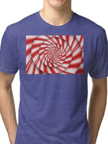 Abstract - Spirals - The power of mint Tri-blend T-Shirt