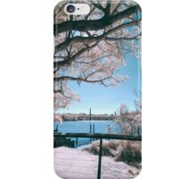 The Fig Tree in Pink And Green iPhone Case/Skin