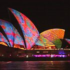 Colourful sails & scales Vivid Sydney 2014 by Michael Matthews