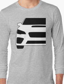 2015+ Subaru WRX STI Full Front with Corner Edge Cut Sticker / Decal Long Sleeve T-Shirt