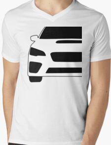 2015+ Subaru WRX STI Full Front with Corner Edge Cut Sticker / Decal Mens V-Neck T-Shirt