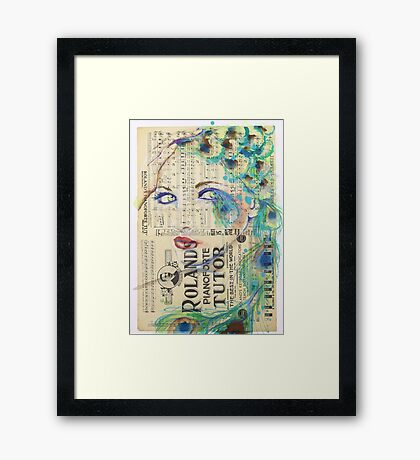 Peacock Passion Framed Print