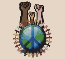 Unity And Peace - Raised Fists! by Denis Marsili