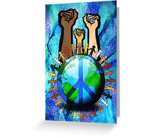Unity And Peace - Raised Fists! Greeting Card