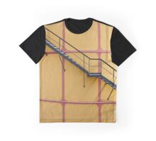 Stairs On A Yellow Silo Graphic T-Shirt