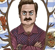 Ron Swanson Swag by thyartiskyle