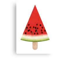Watermelon on a Stick Canvas Print