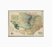 Vintage Map of The Texas Oil and Gas Fields (1920) Unisex T-Shirt