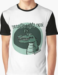 crocodile rights now blue Graphic T-Shirt