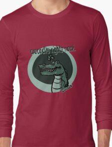 crocodile rights now blue Long Sleeve T-Shirt
