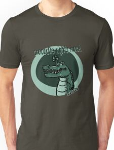 crocodile rights now blue Unisex T-Shirt