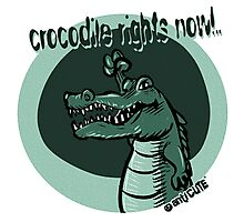 crocodile rights now blue Photographic Print
