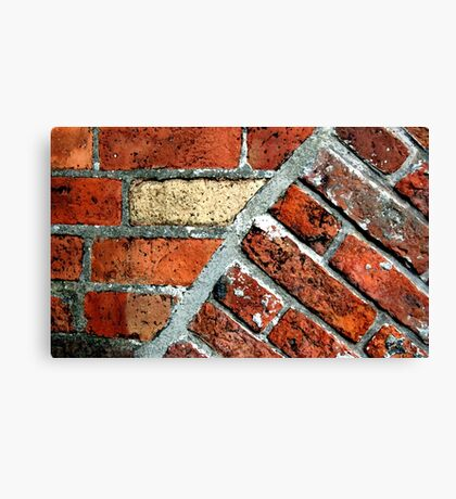 Tectonic Bricks - Saint Nicholas Church, Carrickfergus. Canvas Print