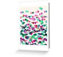 Heart Connections II - watercolor painting (color variation) Greeting Card