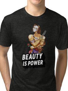 Vega: Beauty is Power Tri-blend T-Shirt