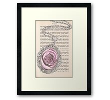 Silver & Rose Framed Print