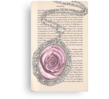 Silver & Rose Canvas Print