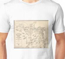 Vintage Map of Rio de Janeiro Brazil (1896) Unisex T-Shirt