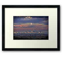 Full Moon Over New York, USA Framed Print