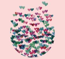 Heart Connections II - watercolor painting (color variation) Kids Tee