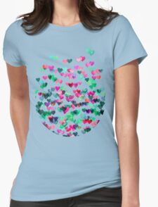 Heart Connections II - watercolor painting (color variation) Womens T-Shirt
