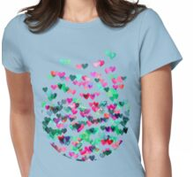 Heart Connections II - watercolor painting (color variation) Womens Fitted T-Shirt