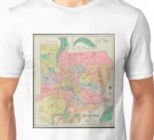Vintage Map of Rochester NY (1901) Unisex T-Shirt