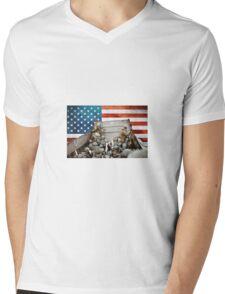 Freedoms Price Mens V-Neck T-Shirt