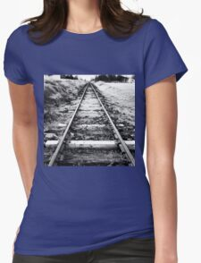 Abandoned Tracks, Cooma, NSW Womens Fitted T-Shirt